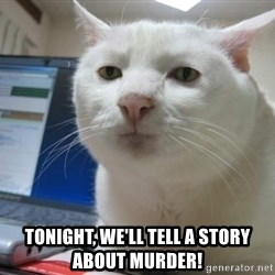 Serious Cat -  Tonight, We'll tell a story about murder!
