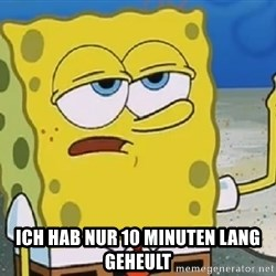 Only Cried for 20 minutes Spongebob -  iCh hab nur 10 minuten lang geheult