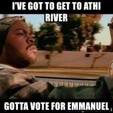 It was a good day - i've got to get to athi river gotta vote for emmanuel