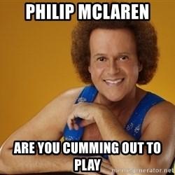 Gay Richard Simmons - Philip Mclaren Are you cumming out to play
