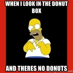 Homer retard - when i look in the donut box and theres no donuts