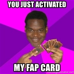 Cunning Black Strategist - You just activated my fap card
