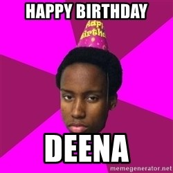 Happy Birthday Black Kid - Happy Birthday Deena