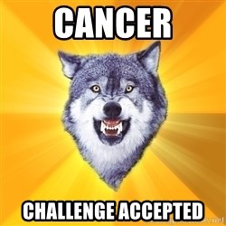 Courage Wolf - Cancer Challenge acCepted