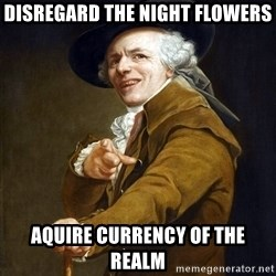 Joseph Ducreaux - Disregard the night flowers Aquire Currency of the realm