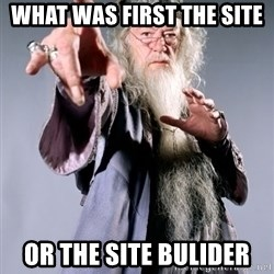 Bitchin Dumbledore - what was first the site  or the site bulider