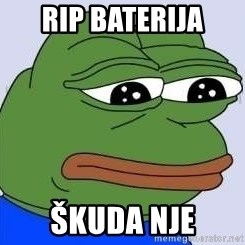 Sad Frog Color - Rip baterija Škuda nje