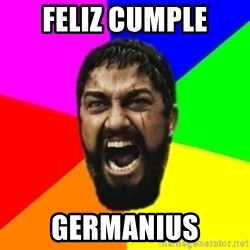 sparta - FEliz cumple germanius