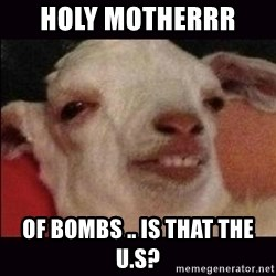 10 goat - holy motherrr  of bombs .. is that the u.s?