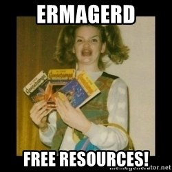 Ermahgerd Girl - ermagerd free resources!