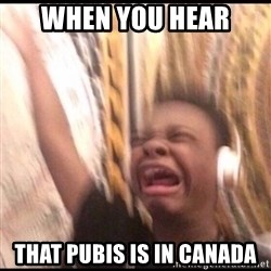 turn up volume - when you hear that pubis is in canada