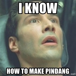i know kung fu - I know How to make pindang