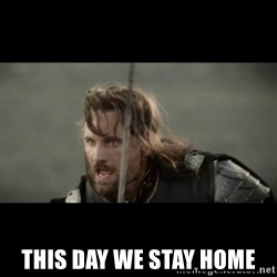 But it is not this Day ARAGORN -  This day we stay home