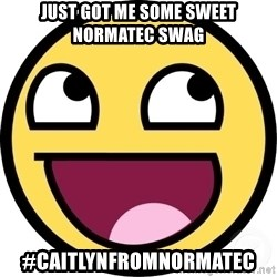 Awesome Smiley - Just got me some sweet NormaTec SWAG #CaitlynfromNormaTec
