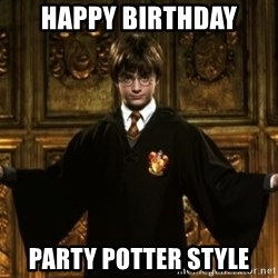 Harry Potter Come At Me Bro - Happy birthday Party Potter style