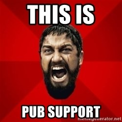 THIS IS SPARTAAA!!11!1 - THIS IS  PUB SUPPORT