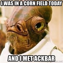Ackbar - I was in a corn field today And I met Ackbar
