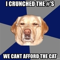 Racist Dog - i crunched the #'s we cant afford the cat