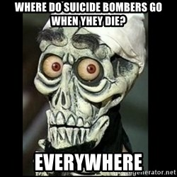 Achmed the dead terrorist - Where do suicide bombers go when yhey die? Everywhere