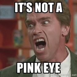 Arnold - It's not a  Pink eye