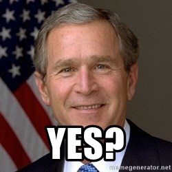 George Bush -  Yes?