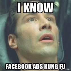 i know kung fu - I know facebook ads kung fu