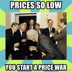 reagan white house laughing - prices so low  you start a price war