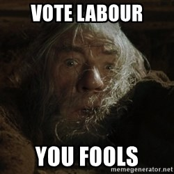 gandalf run you fools closeup - VOTE LABOUR You fools
