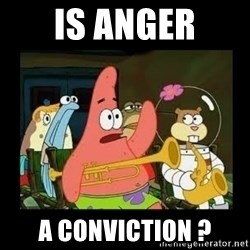Patrick Star Instrument - Is anger A conviction ?