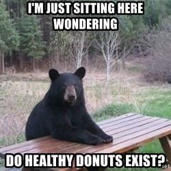 Patient Bear - I'm just sitting here wondering do healthy donuts exist?