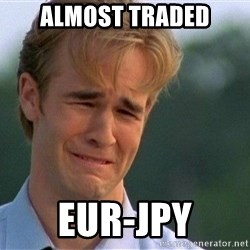 Crying Man - almost traded eur-jpy
