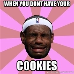 LeBron James - When you dont have your Cookies