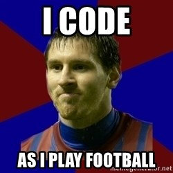 Lionel Messi - I CODE AS I PLAY FOOTBALL
