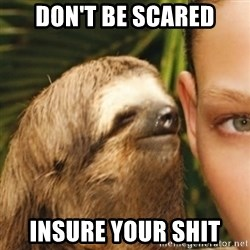 Whispering sloth - don't be scared insure your shit