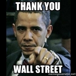 obama pointing - THANK YOU WALL STREET