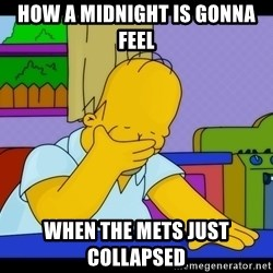 Homer Facepalm - How a midnight is gonna feel  When the mets just collapsed
