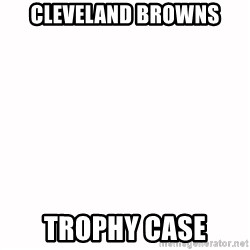 fondo blanco white background - cleveland browns trophy case