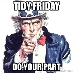 Uncle Sam - TIDY FRIDAY DO YOUR PART