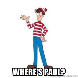 Where's Waldo -  Where's Paul?