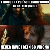 Never Have I Been So Wrong - I thought A PCR screening would be rather simple Never have I been so wrong