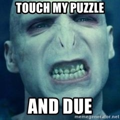Angry Voldemort - Touch my puzzle And due