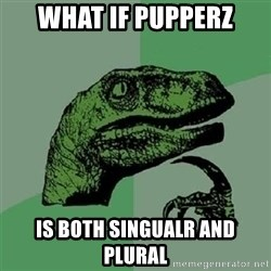 Velociraptor Xd - WhAt if pupperz Is both singualr and plural