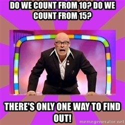 Harry Hill Fight - do we count from 10? do we count from 15? there's only one way to find out!
