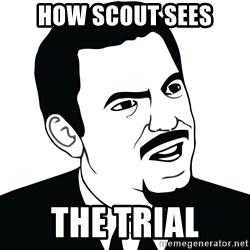 Are you serious face  - How scout sees The trIal