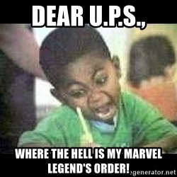 Black kid coloring - Dear U.p.s.,  Where the hell is my marvel legend's order!