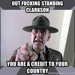 R. Lee Ermey - Out fucking standing clarkson You are a credit to your country