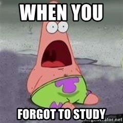 D Face Patrick - When You       Forgot to study