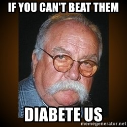 Wilford Brimley - If You Can't Beat them DIABETE us