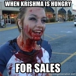 Scary Nympho - when krishma is hungry for sales