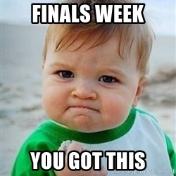 victory kid - Finals week You got this